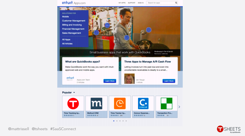 Intuit TSheets Partnership SaaS Connect 2018