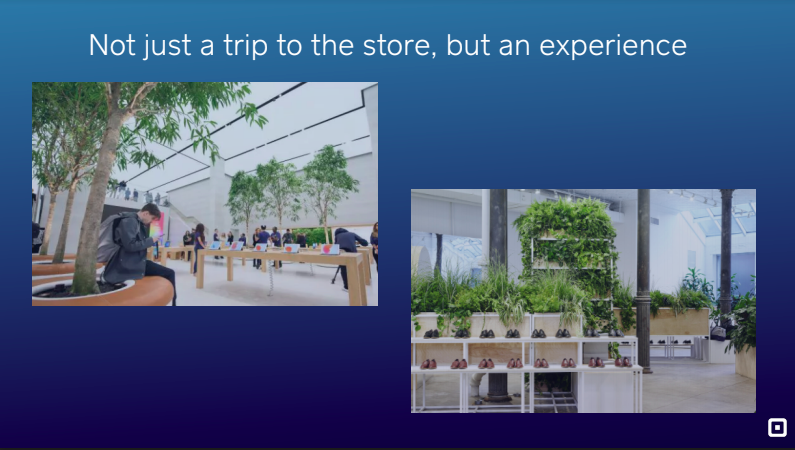Square retail experiences Apple London and Everlane New York